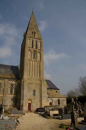 Stone church not far from Courcelles-Sur-Mer