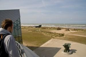 Pete looking out from the Juno Beach Centre