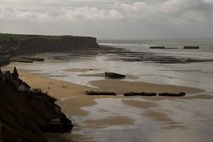 D-Day temporary harbor remains in Arromanches