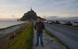 Chris at Mont-Saint-Michel
