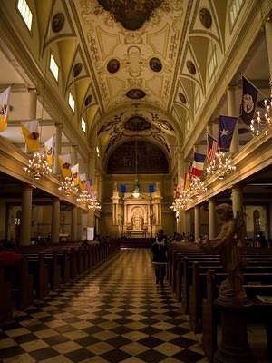 Inside Saint Louis Cathedral
