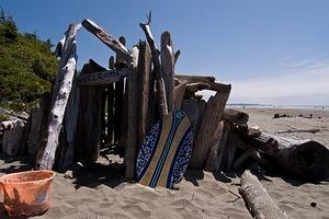 Welcome - drift wood fort on Long Beach