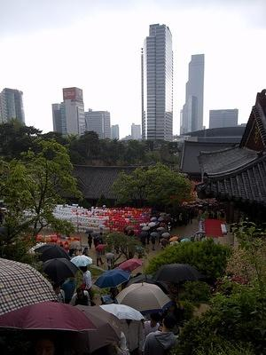 Bongeun-sa temple and skyline