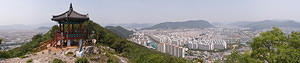 Panoramic photo of Gimhae from Imhosan