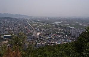 Looking out over east Gimhae Interchange