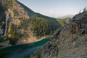 Lake Agnes from above