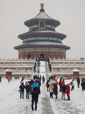 Snowy Temple of Heaven