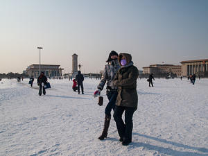 Freezing in Tian'anmen Square