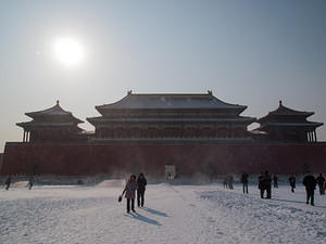 Freezing winds in the Forbidden City