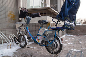 A typical winterized electric bike