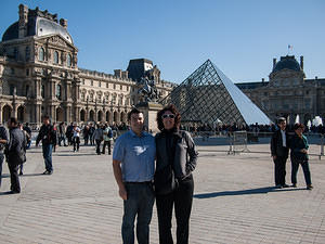 Chris and Anna at the Louvre