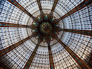 Roof detail for Galeries Lafayette