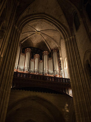 Notre Dame's organ pipes