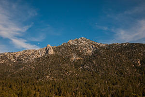 San Jacinto mountains and moon