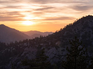 Angeles National Forest sunset