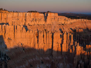 Morning light over hoodoos