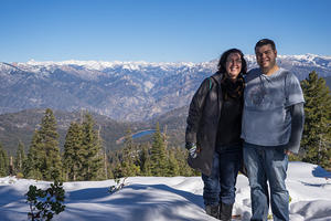 Anna and Chris at Panoramic Point