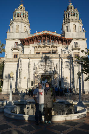 Chris and Anna at Hearst Castle