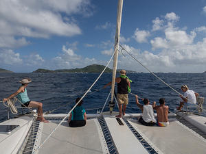 Headed towards St Barths