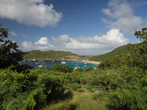 View of Anse de Colombier