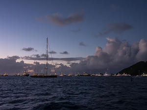 Luxury yachts anchored outside Gustavia