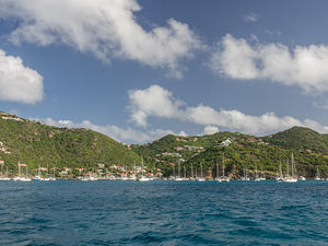 Boats anchored off Saint Barthélemy