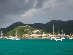 Fort Louis overlooking Marigot's harbor