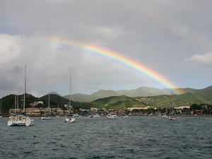 Rainbow over Marigot