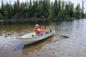 Rowing on François Lake