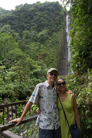 Bill & Gloria at Les Chutes du Carbet
