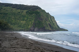 Waipi'o Black Sand Beach