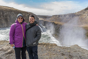 Anna & Chris at Gullfoss