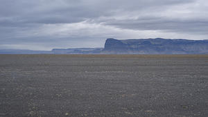 Glacial outwash plain, black gravel flats