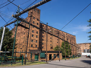 Buffalo Trace brick warehouses