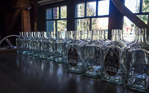 Empty bottles of Elmer T Lee, ready to be filled