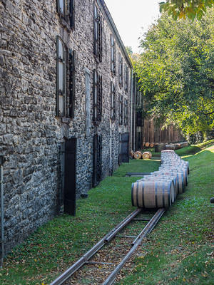 Barrel Run at Woodford Reserve's warehouses