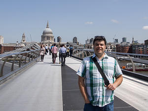 Chris on Millennium Bridge