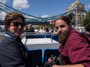 Kim and Elliot on the River Thames