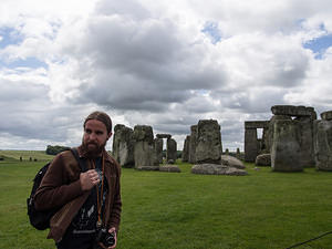 Elliot at Stonehenge