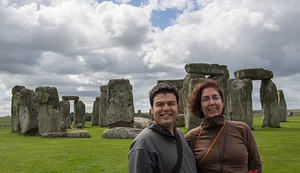 Chris and Anna at Stone Henge