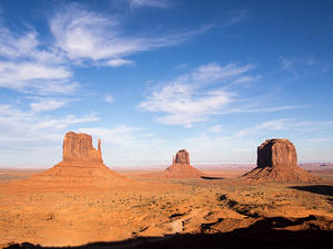 Afternoon arrival at Monument Valley