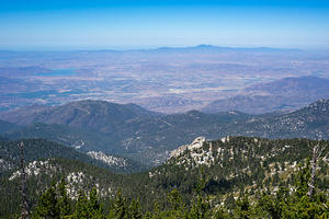 Hemet and Diamond Lake from Mt. San Jacinto summit