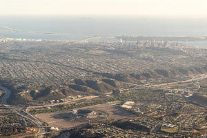 Mission Valley and downtown San Diego
