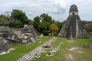 Tikal Great Plaza and Jaguar Temple