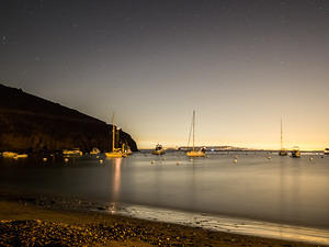Two Harbors at night