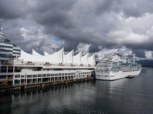Island Princess docked at Canada Place