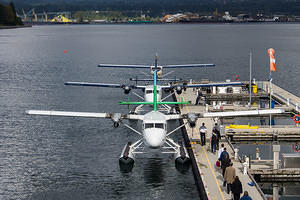 Boarding the seaplane