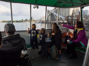 Enjoying the ferry on False Creek