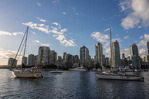 New and old boats on False Creek