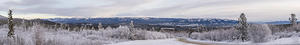 Whitehorse and Yukon River valley panoramic